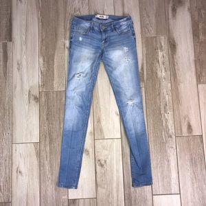 Hollister Slightly Distressed LightWash Jeans